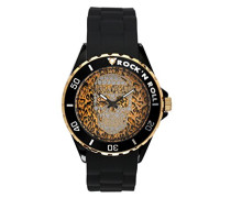 Zadig & Voltaire Unisex-Armbanduhr Pop Art Analog Quarz Schwarz ZV 044/1UA