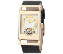 Armbanduhr für Damen mit Analog Anzeige, Automatik-Uhr und Lederarmband - Wasserdichte Damenuhr mit zeitlosem, schickem Design - klassische, elegante Uhr für Frauen - BM510-282 Delft