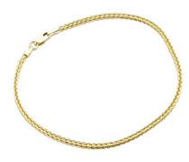 Damen-Armband Weizen 9 Karat 375 Gelbgold 19.5cm MSIL929B
