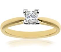 Damen-Ring Goldgelb 18 K Diamant 0,35 ct Prinzessschliff PR03796Y-P035FVS2-L
