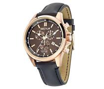 Herren-Armbanduhr Analog Quarz Leder R3271690020