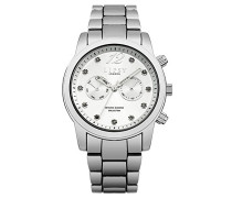 Damen Quarzuhr mit Silber Zifferblatt Analog-Anzeige und Silber Legierung Armband lp477