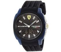 Ferrari Herren-Armbanduhr XL Aerodinamico Analog - Digital Quarz Silikon 830149