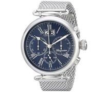 Armbanduhr für Herren mit Analog-Anzeige, Chronograph mit Edelstahl Armband - Wasserdichte Herrenarmbanduhr mit zeitlosem, schickem Design - klassische Uhr für Männer - BMP01-131 Toulouse