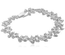 Glaskristall gebildeten Schichten Blumen Armband, 40 cm