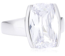 Damen-Ring 925 Sterling Silber Zirkonia weiß Gr. 53 (16.9) 273270779-9-017