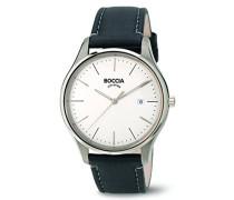Boccia Herren-Armbanduhr Analog Quarz Leder 3587-01