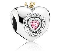 Damen-Bead Silber vergoldet teilvergoldet Zirkonia weiß - 791375PCZ