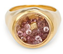 -  925 Sterling-Silber  Silber Rundschliff   pink/rosa Tourmaline