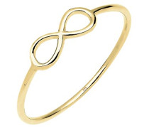 Damen-Ring Infinity Symbol Unendlichkeit 375 gelbgold Größen