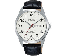 Herren-Armbanduhr Analog Quarz Leder PJ6065X1