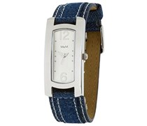 M&M Damen-Armbanduhr Analog Quarz Edelstahl beschichtet M11300-841
