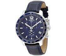 Tissot Herren-Armbanduhr Chronograph Quarz Leder T095.417.16.047.00