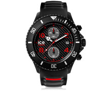 - ICE carbon Black White - Schwarze Herrenuhr mit Silikonarmband - Chrono - 001316 (Extra Large)