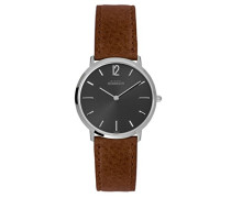 17015/14GO Armbanduhr Herren, Leder, Farbe: Braun