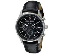 Herren Armbanduhren Chronograph Quarz Edelstahl JG6500-44NC