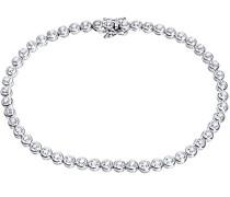 Damen-Tennisarmband 375 Weißgold rhodiniert Diamant (0.50 ct) weiß Rundschliff 1.9 cm - PBC01971W