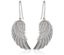 Flügel Ohrhänger für Damen 925er-Sterlingsilber Größe 20 mm