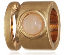 Damen-Kette Vergoldet Quarz Pink/Rosa Rundschliff 1cm