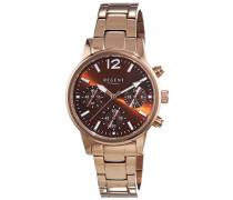 Regent Damen-Armbanduhr XS Analog Quarz Edelstahl beschichtet 12210938