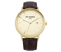 Ben Sherman Herren-Armbanduhr Analog Quarz Leder WB001BRA