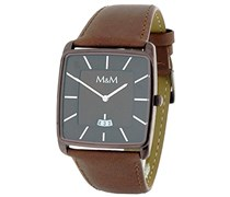 M&M Herren-Armbanduhr Analog Quarz Kunstleder M11761-595