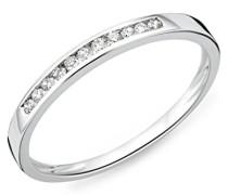 Damen-Ring 9kt Memoire 375 weißgold rhodiniert Diamant (0.1 ct) weiß Rundschliff - MC909WP