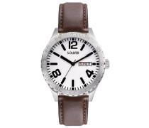 s.Oliver Herren-Armbanduhr XL Analog Quarz Leder SO-2632-LQ