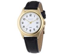 Regent Herren-Armbanduhr XL Analog Quarz Leder 11100160