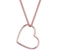 Halskette Herz Liebe 925 Sterling Silber rosé vergoldet 45cm