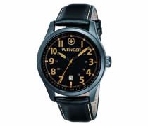 Wenger Herren-Armbanduhr XL Terragraph Analog Quarz Leder 01.0541.105