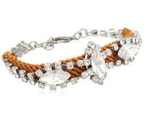 Damen-Armband Abby Handicraft silber/braun 18-19 cm 00274