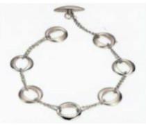 Damen-Armband Titan Pol/Sat 0375-01