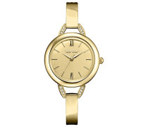 Caravelle New York Damen-Armbanduhr PERFECTLY PETITE Analog Quarz Edelstahl beschichtet 44L129