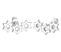 Damen-Ohrringe Ohrstecker Sterne Astro Earcuff Stern Star Sternzeichen Trend silber 925