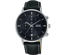 Herren-Armbanduhr Analog Quarz Leder PM3081X1