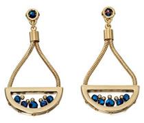 Fiorelli Costume Damen-Ohrringe Glas Blau Rundschliff