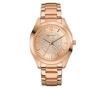 Caravelle New York Damen-Armbanduhr BOYFRIEND Analog Quarz Edelstahl beschichtet 44L160