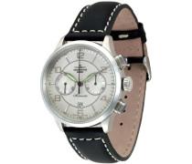 Herren-Armbanduhr XL Retro Tre Chronograph Automatik Leder 6302BHD-g3