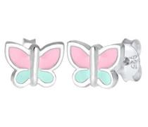 Kinder-Ohrstecker Schmetterling 925 Silber Emaille - 0304810617
