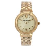 Damen-Armbanduhr Analog Quarz Edelstahl DHD 007-1EM