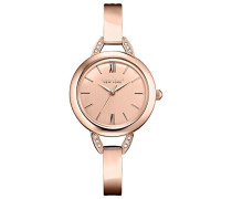 Caravelle New York Damen-Armbanduhr PERFECTLY PETITE Analog Quarz Edelstahl beschichtet 44L133