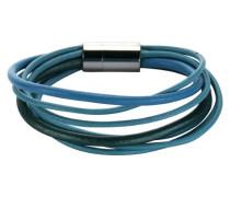 Stainless Steel Damen-Armband 19,0cm Leder 9-reihig 347060062-2
