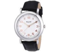 Regent Herren-Armbanduhr XL Analog Handaufzug Leder 11020026