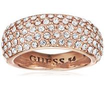 Guess Damen-Ring Metalllegierung Glas weiß Gr. 56 (17.8) - UBR51433-56