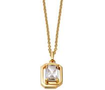 Damen Halskette 925 Sterling Silber rhodiniert Glas Zirkonia Néoclassicisme 42 cm weiß S.PCNL90469B420