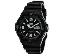 –mrw-200h-1b–Casual-Armbanduhr–Quarz Analog–Zifferblatt schwarz Armband Kunstharz schwarz