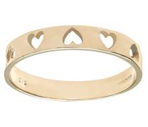 Damen-Ring 375 Gelbgold 9 Karat Diamant