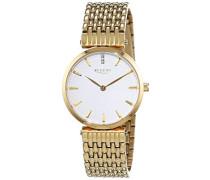 Regent Damen-Armbanduhr XS Analog Quarz Edelstahl beschichtet 12210935