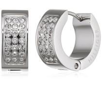 jewelry Damen-Ohrstecker Edelstahl Swarovski-Kristall weiß 2700572
